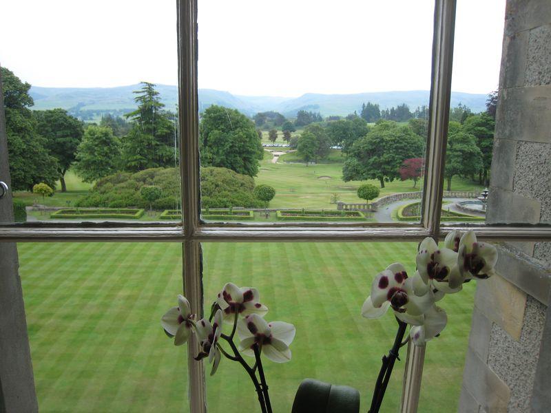 La campagne du Perthshire à perte de vue depuis les fenêtres du Gleneagles - Copyright Laurence Gounel